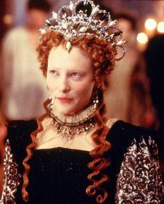 Cate Blanchett as Queen Elizabeth 1 in 'Elizabeth' 1998. Costume designed by Alexandra