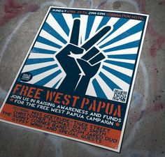 Free West Papua gig poster