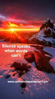 """EnergieTipp 28.04.2017: """" Silence speaks when words can't """"  Es gibt Situatio..."""