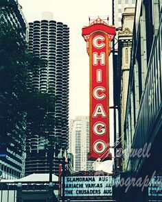 Chicago Theatre Sign Fine Art Photography City by KEnzPhotography