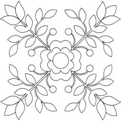 Rose of Sharon Linework Quilting Applique Quilt Patterns, Embroidery Flowers Pattern, Embroidery Patterns Free, Hand Embroidery Designs, Embroidery Art, Applique Designs, Quilting Designs, Embroidery Stitches, Fabric Painting