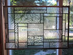 pictures of stained glass windows   Solace Clear Textures Stained Glass Windows Panel 1940-Now photo