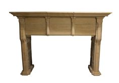 VERY LARGE AND IMPOSING ANTIQUE PALE SANDSTONE FIRE SURROUND - UK Architectural Heritage