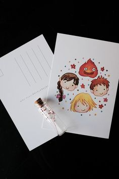 Studio Ghibli Howl and Friends 5x7 by PenelopeLovePrints on Etsy