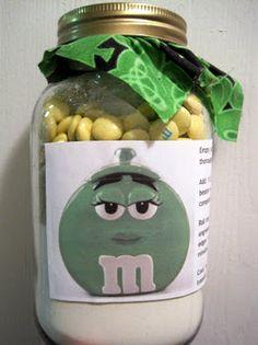 M&M Cookie Mix in a Jar