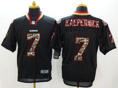 293ce5772aa Nike San Francisco 49ers  7 Colin Kaepernick Black With Camo Elite Jersey  Fashion 2014