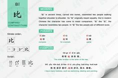Chinese character- 比 compare
