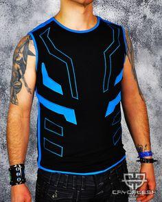 Cryo Tron Top Male Black/Neon Blue