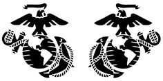 USMC Eagle, Globe and Anchor EGA (Inboard & Outboard) Indoor/Outdoor Vinyl Decal, MultiPurpose - For Your Auto, Wall, Window and More Purchase this product along with all of our other spectacular decals through one of the following links:   https://www.etsy.com/shop/MiaBellaDesignsWI  http://www.amazon.com/s?marketplaceID=ATVPDKIKX0DER&me=A2MSEOIVL689S1&merchant=A2MSEOIVL689S1&redirect=true