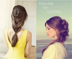 fashion and trend ponytail for wedding with clip in long hair extension