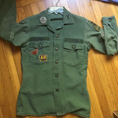 US Army Thick Buttondown Urban Outfitters Official Army jacket with name Daniel on right hand pocket. When bought it was a men's small, Awesome Lightweight Jacket or Heave shirt, in excellent condition Urban Outfitters Jackets & Coats Utility Jackets
