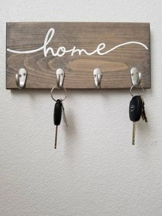 Key Hooks Housewarming Gift Key Rack Key Hanger Key holder for Wall Hooks for Wall Hooks for Keys Key Organizer Entryway Organizer Key Hooks, Wall Hooks, Key Hook Diy, Hanger Hooks, Wall Key Holder, Diy Key Holder, Wooden Key Holder, Key Holders, Key Rack