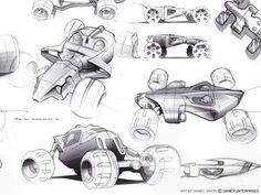 car design sketch by Daniel Simon for Disney 2009 (via simkom.com/sketchsite 131667137103027)