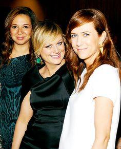 three of my favorites: Maya Rudolph, Amy Poehler, and Kristen Wiig