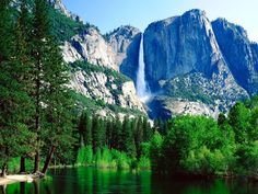 Yosemite National Park, California    At 2,425 feet, Yosemite Falls earns top honors as the highest waterfall in North America. The cascade is broken into three sections: Upper Yosemite Fall, Middle Cascades, and Lower Yosemite Fall. Be sure to plan your visit after a winter with heavy snow, otherwise the falls might be little more than a trickle.