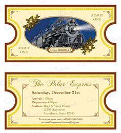 Polar Express Theme Invitation DIY Printable by CiciandBobos