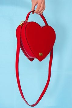 Heart-shaped handbag.
