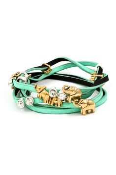 Elephant Charm Bracelet in Turquoise on Emma Stine Limited  - I don't know if I can not have this . UPDATE: on it's way!!!