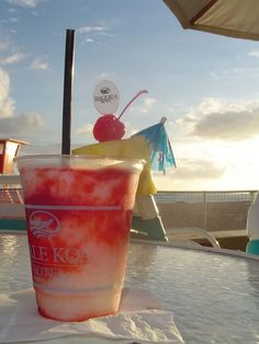 Lava Flow at Hale Koa's Barefoot Bar. Spent a LOT of time at this place :)