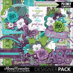 Sparkle & Shine - a fun girly digital scrapbook kit to highlight all those who shine in your life. Add some glitter to your pages and let it sparkle!