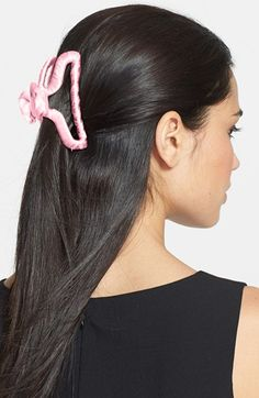 L. Erickson Silk-Wrapped Hanger Jaw Clip for Hair mzTXY6