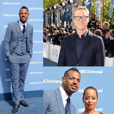Grooming for these two handsome gents on the NBC Upfronts Red Carpet yesterday. #MarlonWayans and #Alan Tudyk #newyorkhairstylist #newyorkmakeupartist #nychairstylist #nycmakeupartist #grooming #mensgrooming #redcarpet #nbc #coverfx by lauraburns_hairmakeup