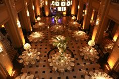 Wedding Reception at the Peabody Opera House, Saint Louis, MO Floral & Event Design by Wildflowers LLC Saint Louis MO