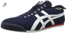 Onitsuka Tiger Mexico 66 Slip-On Classic Running Shoe, Navy/Off White, 10 M US - Onitsuka tiger sneakers for women (*Amazon Partner-Link)