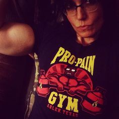 When in Arlen, I workout at Hank's gym. Because No Pro-Pain, No gain    #officialRIPTster #riptapparel  Share your style using #popcultureapproved  Reposted Via @brookebones13