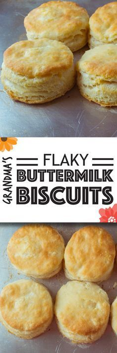 Flaky buttermilk biscuits straight from my Grandma's kitchen. Bet you can't eat just one.