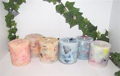 medium sized scented pillar candles