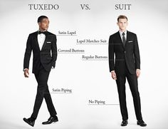 Not sure if you want a tux or a suit for the men in your wedding? This article breaks down the differences!