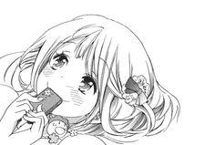 Image about girl in Manga black and white + by Chōko Read Anime Manga, Art Manga, Manga Drawing, Anime Art, Manga Kawaii, Kawaii Anime Girl, Manga Girl, Wie Zeichnet Man Manga, Cartoon Drawings Of Animals