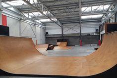 Spot : l'atelier Skatepark indoor de Tourcoing (59) - Plus de spots de skate sur www.spotsdeskate.fr
