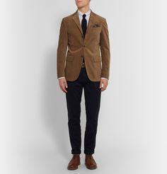 Polo Ralph Lauren - Tan Harvard Slim-Fit Suede-Panelled Corduroy Blazer | MR PORTER