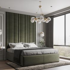 Simple neoclassic bedroom on Behance Home Room Design, Bedroom Wall Designs, Bed Furniture Design, Bedroom Interior, Luxurious Bedrooms, Modern Luxury Bedroom, Living Room Design Modern, Classic Bedroom, Luxury Rooms