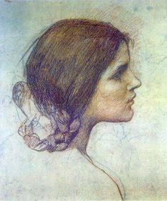 John William Waterhouse, study for painting