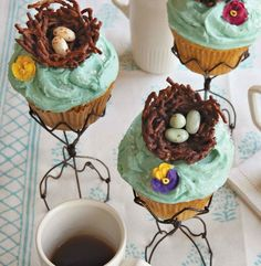 These nest cupcakes look so classy and cute :).