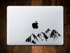 Mountain Range Decal, Macbook Decal, Laptop Decal, Laptop Stickers