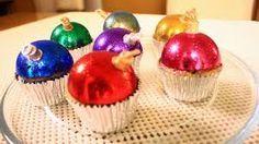 Resultado de imagen para cupcakes de esferas navideñas