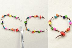 Make Wooden Bead Jewelry | Tutorial-on-Making-Rainbow-Wooden-Bead-Bracelet-with-Simple-Knots6