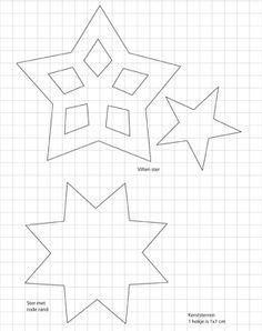 Download de patronen van de kerststerren in de middelste rij