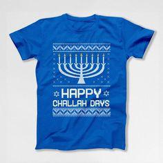 Funny Hanukkah Sweater Ugly Holiday Gifts For Chanukah Happy Hanukkah Menorah Jewish Clothing Off The Shoulder Slouchy Sweatshirt FAT-618