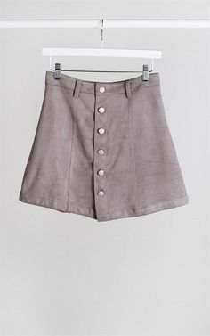 nice Suede Button Up Skirt