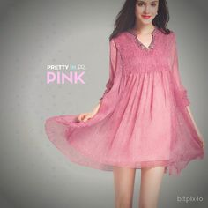 Pretty In Pink Chiffon Charmeuse Dress