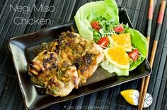 Tender chicken marinated in negi miso, made with Tokyo Negi roasted in sesame oil, and seasoned with miso, sugar, mirin, sake, and soy sauce. #Japanese Recipe