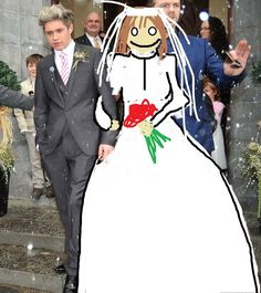 Oh no! The pictures from Niall's and my secret wedding leaked! Darrrrrn. Oh well, at least you all know the truth and I have proof