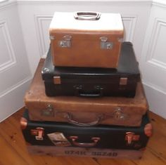 old suitcase storage Suitcase Storage, Old Suitcases, Storage Solutions, Home Accessories, Home Decor Accessories, Old Trunks