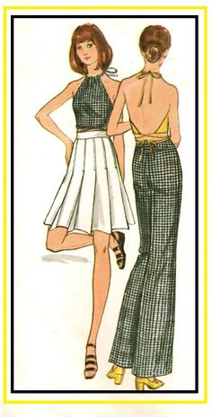 d275a99ab7b Items similar to Butterick 6649 Vintage 70s Mary Quant designer Ankle  Length or Mini Knife Pleat Skirt