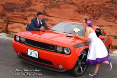 wedding day with an Irish couple, out @ Red Rock Canyon NV with a rental car ( dodge challenger) Las Vegas Weddings, Las Vegas Strip, Dodge Challenger, Professional Photographer, Irish, Reception, Wedding Day, Wedding Photography, Photoshoot